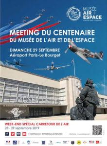 """Affiche Le Bourget """"Carrefour de l'Air 2019"""""""