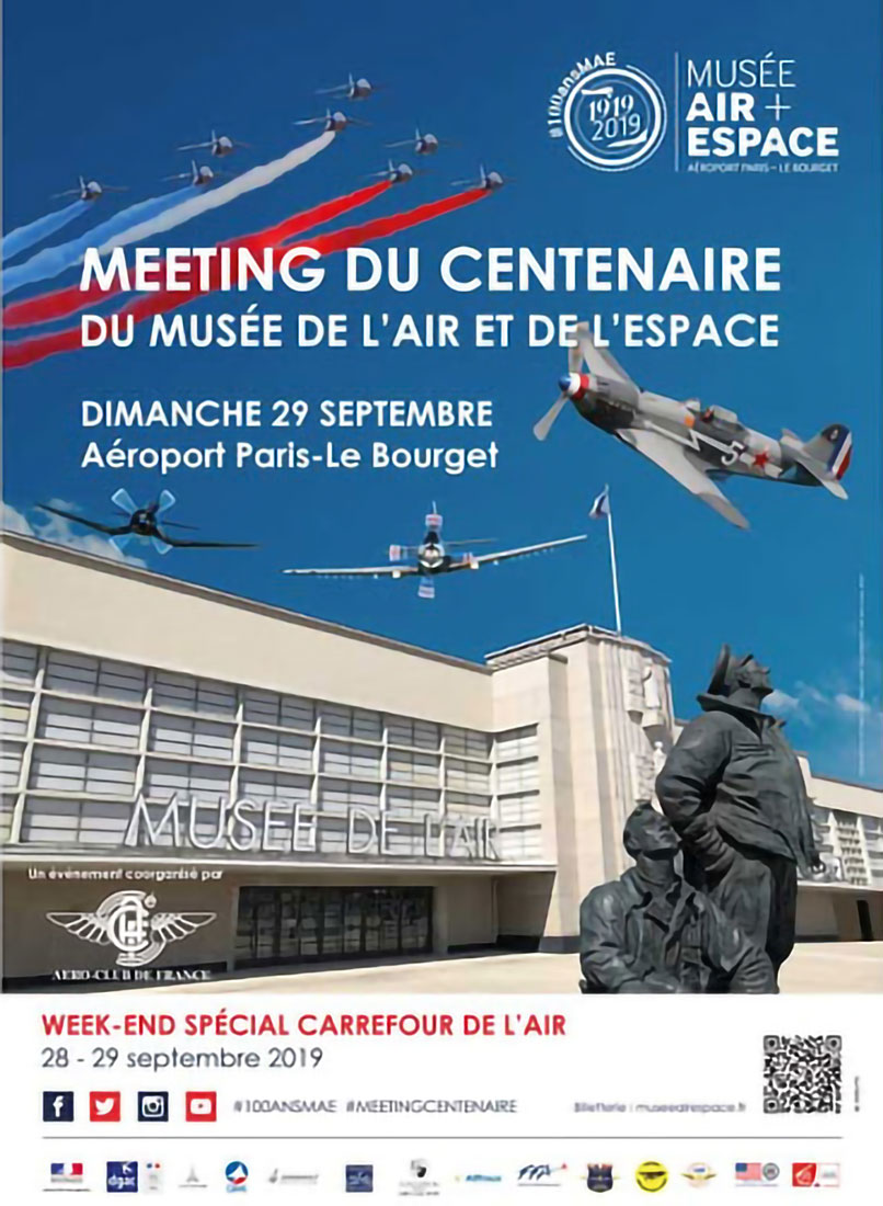 "Affiche Le Bourget ""Carrefour de l'Air 2019"""