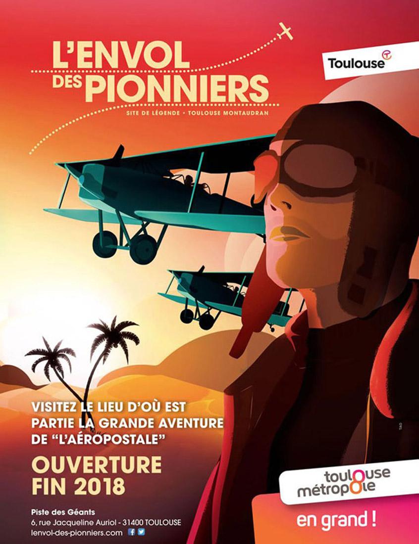 """Affiche Toulouse """"L'envol des pionniers"""""""