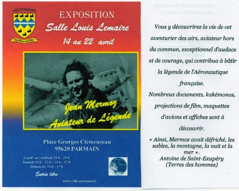 """Parmain 2018 - Exposition """"Mermoz, aviateur de légende"""""""