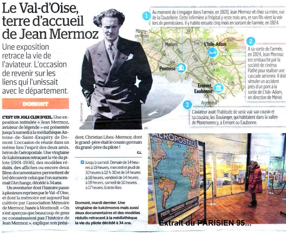 """Exposition """"Jean Mermoz, aviateur de légende"""""""