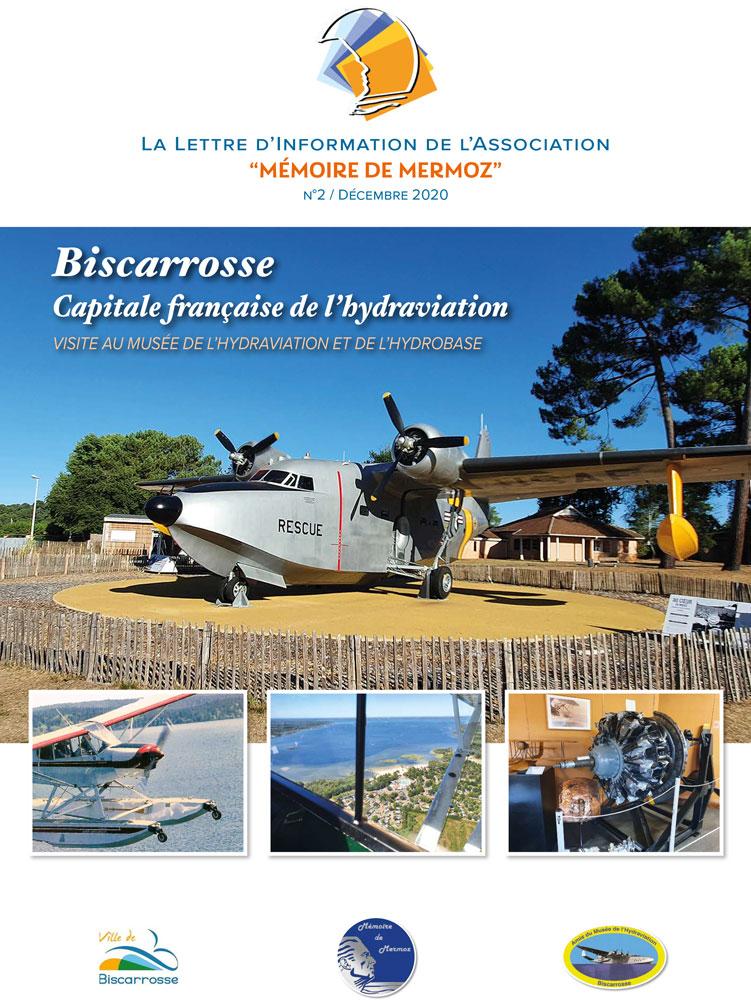 """La lettre d'informations de l'Association """"Mémoire de Mermoz"""" - N°2 - Décembre 2020"""
